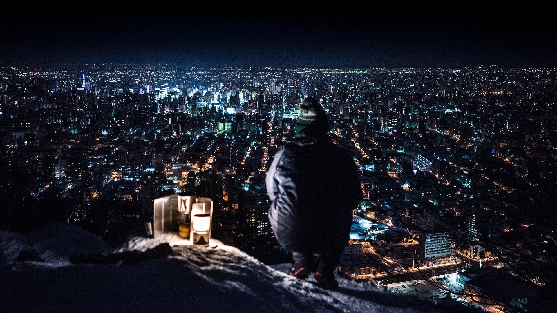 夜景パネル展 「円山山頂から望む札幌の夜景」