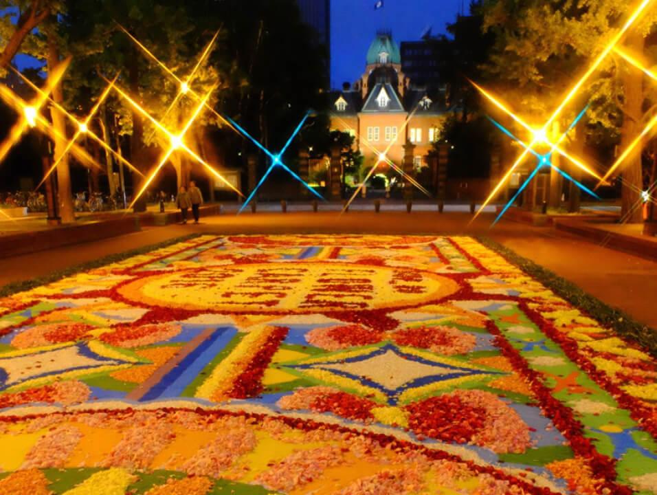 夜景パネル展 「Flower carpet」